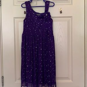 🛍 Purple sequin dress and purple flower with gem